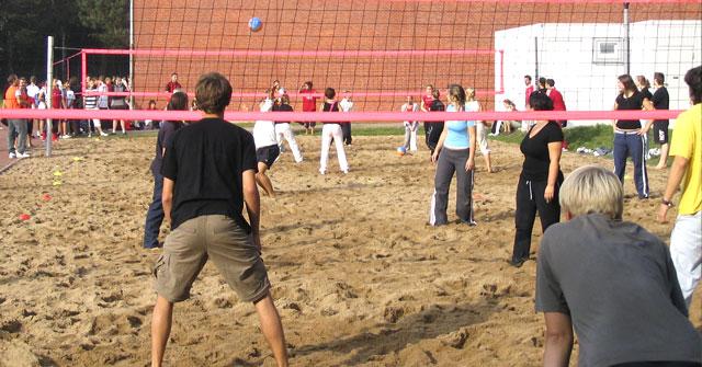 Unser Beachvolleyballfeld