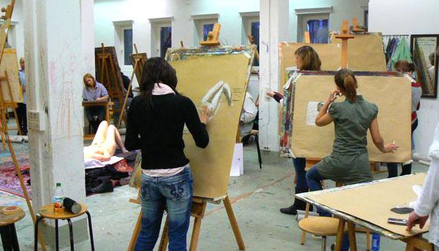 Arbeiten im Atelier