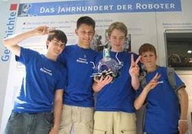 Robotikkurs 2008 beim Wettbewerb