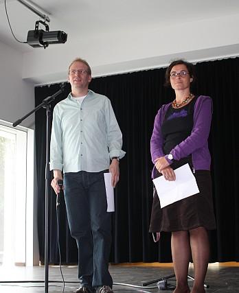 Bei der Einschulung - zwei Lehrer, eine Klasse