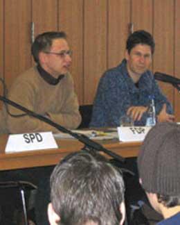 Herr Groß (FDP) und Herr Heinemann (CDU)