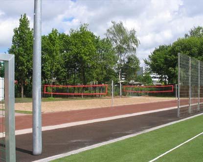 Das neue Beach-Volleyballfeld