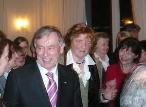 Der Bundespräsident Herr Köhler, Frau Birgit Breuel, Frau Luise Köhler