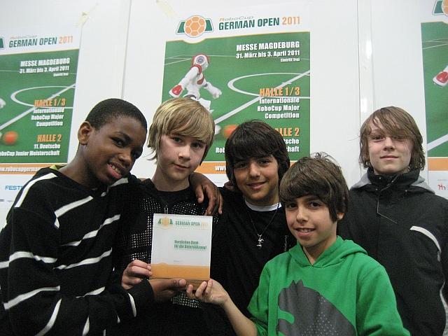 Das Team des Goethe-Gymnasiums beim RobocupJunior