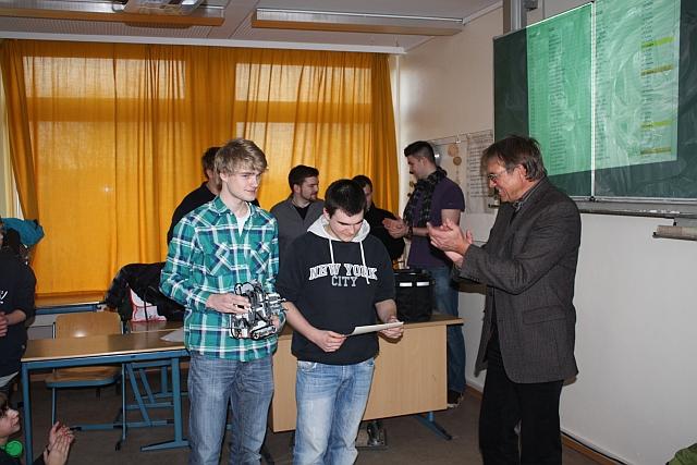 Das Gewinnerteam vom Goethe bei der Preisverleihung