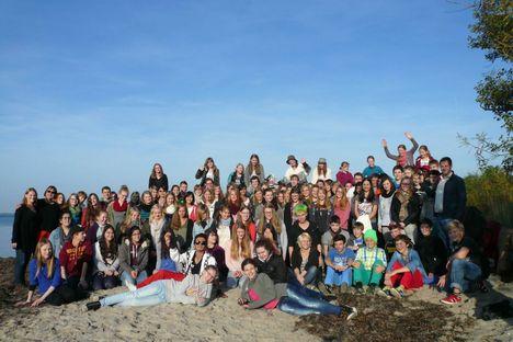 Großer Chor auf Chorreise 2013 an der Ostsee