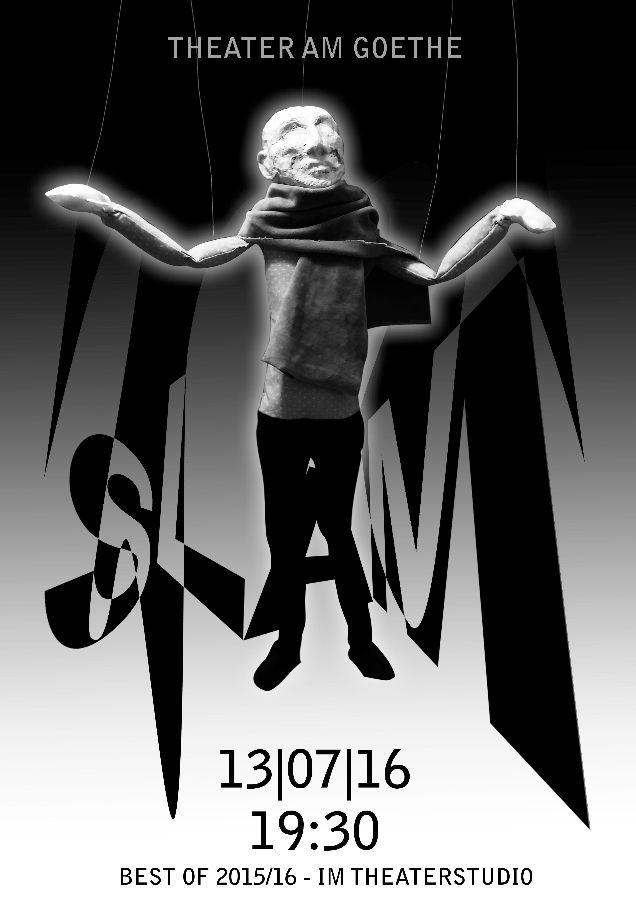 Plakat Theater Slam Schein