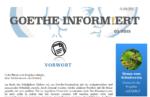 Goethe informiert Juni - Ausgabe zum Schuljahresende