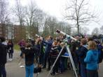 Sonnenfinsternis live am Goethe